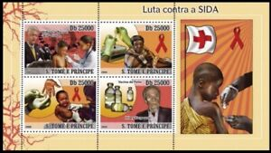Sao Tome 2008 MNH SS, AIDS, Bill Clinton, Korpowski, Medicine Vaccine, Red Cross