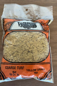 Coarse Turf - Ground Cover - Model RR - Yellow Grass T61 - 18 Cu In