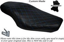 Diamante Azul claro con puntada Custom encaja Harley Sportster 883 1200 Doble Cubierta De Asiento
