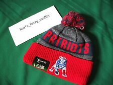 New England Patriots New Era knit pom hat beanie NEW 2016-17 throwback AUTHENTIC