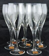 VINTAGE CHAMPAGNE OR COCKTAIL GLASS SET 8 AVITRA BULGARIA STEMWARE BARWARE NEW