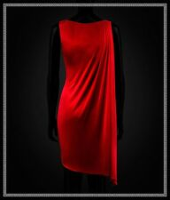 Versace for H&m Red Cape Draped Dress Size XS / Extra Small US 4