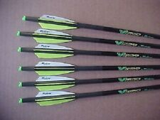VICTORY ARCHERY 6 PAC CARBON ARROWS FOR PSE FANG, TOXIC, FREE FIELD POINTS !!