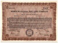 Missouri-Kansas Pipe Line Company Depression-Era Stock Purchase Warrant