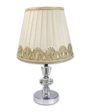 Lampada da comodino lume abat jour moderno da tavolo con paralume decorato oro
