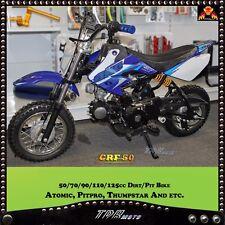 Blue&White PLASTICS & Sticker kit for Honda 50 CRF50 Pitbike Motorcycle Fairing