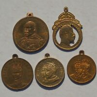 Collection of 5 Edward VII Medals Medalets tokens Beautiful HIGH GRADES & LUSTRE