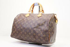 Auth Pre-owned Louis Vuitton LV Monogram Speedy 35 Hand Bag M41524 M41107 210241