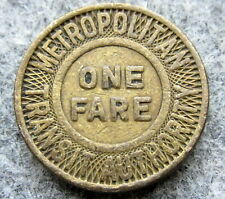 UNITED STATES BOSTON Massachusetts Transit Authority 1951 1 FARE TOKEN