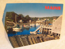 Maine Quiet Harbor, New Harbor, Me.! Identical Postcard Lot Of 25 Unused! 2x