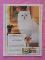 1999 Magazine Advertisement Page For Friskies Fancy Feast Canned Cat Food Ad