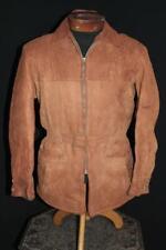 "Rare Vintage 1950'S Deerskin Rust Brown Suede ""Kit Karson"" Jacket Size Small"