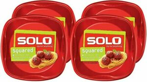 Solo Plastic Party Plates, Red, 10 Inch, 120 Count, 10.25 Inch (Pack of 120)