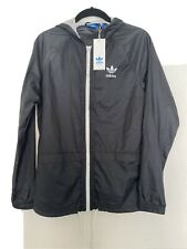 Adidas Originals Black Hooded Spray Rain Jacket Equestrian Size XS New With Tags