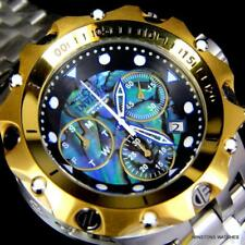 Invicta Venom Hybrid Abalone Chronograph 54mm Steel Gold Plated Watch New