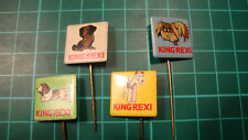 King Rexi pin badge 60's lapel 4pcs speldje Dutch dog dogs