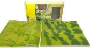NOCH 07471 - Set 2 tappeti erbosi come in foto. 25 X 25 cm l'uno