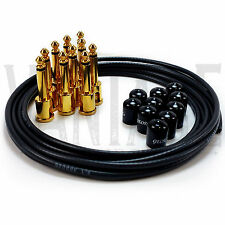 George L's .155 Solderless Black Gold Plated Plugs Patch Cable Kit - 10/10/5
