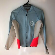 Billabong Womens Size 10 Surf Capsule Long Sleeve Zip Front Surfing Wetsuit Top
