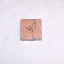 FLAMINGO WOOD MOUNTED RUBBER STAMP