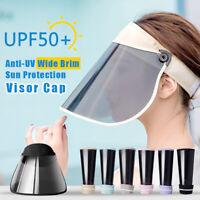 Women's Anti-UV Wide Brim Visor Cap Beach Adjustable Sun Protection Hat Outdoor