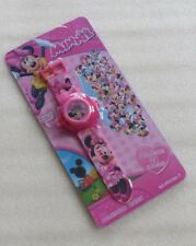 24 Image Pink Minnie Mouse Figure Projector Projection Light Wrist Watch Toy