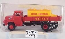 Brekina 1/87 210378 MAN 635 LKW Pritsche mit Tank Shell Heizöl OVP #2637