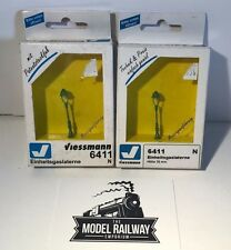 VIESSMANN N GAUGE - STANDARD GAS LANTERNS X 2 - NEW BOXED - BARGAIN