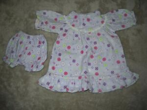 "DOLL CLOTHES FOR 16-18"" DOLLS FLANNEL NIGHTGOWN & PANTIES, WILL FIT AG, DISNEY"