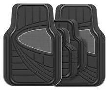 Toyota Crown Universal Aurora 4PC Black/Grey Rubber Carpet Mat Set