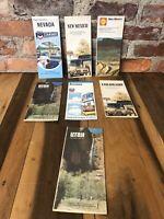 Vintage 70s Map Lot Nevada Colorado Arizona New Mexico Utah Chevron Texaco Shell