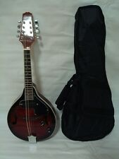 A-Style Acoustic Electric Mandolin, Free Gig Bag, Redburst, Brand New