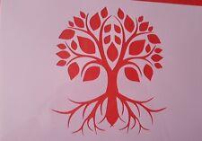 1636 Schablone Baum Vintage Stanzschablone Shabby Stencil Wandtattoo Mylarfolie