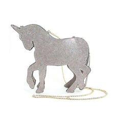 METALLIC PINK ROSE GOLD 3D VINYL HORSE UNICORN,GOLD CHAIN,CROSSBODY,SHOULDER BAG