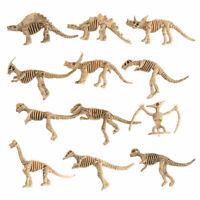 NE_ AB_ CW_ KQ_ 12pcs Dinosaur Jurassic Bones Skeleton Figures Kid Toy Assorted