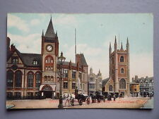 R&L Postcard: Reading Town Hall & St Lawrence Church 1912 Frith