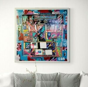 ABSTRACT LARGE PAINTING ORIGINAL LIMITED EDITION PRINT EXPRESSIONISM ON CANVAS