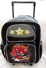 "Super Mario Brothers Mario Kart Wii Rolling 12"" Adjustable Backpack Luggage-New"