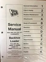 JCB Service 3CX, 4CX, 214, 214E, 215, 217 Manual #3