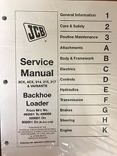 JCB Service 3CX, 4CX, 214, 214E, 215, 217 Manual #3