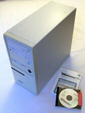 PC: Pentium MMX 233mhz, 256mb di RAM, 2x32 = 64gb HDD, DVD + CD-ROM, Windows 95, p1/p i