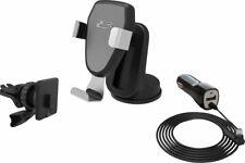 Bracketron BT2-972-2 Car Holder/Charger for Mobile Phones Silver/Black