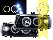 LED Angel Eyes Scheinwerfer für Seat Ibiza 6K Cordoba 6K schwarz