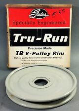 "*NOS* Genuine Gates Tru-Run Steel V-Pulley Rim 7"" OD Groove A (7803-0012 37538)"