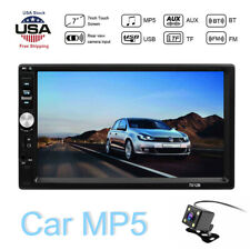 Bluetooth FM Player Stereo Radio Car 7'' 2Din HD MP5 Touch Screen + Rear Camera