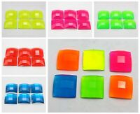 50 Neon Color Flatback Acrylic Square Rhinestone Gems 14X14mm Color Choice