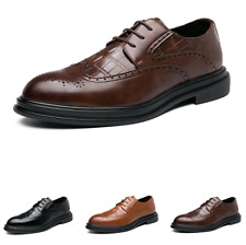 Mens Brogue Wing Tip Oxfords Pointy Tore Casual Low Top Business Leisure Shoes L