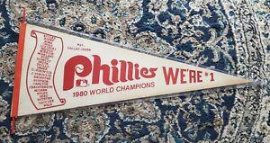 Vintage Felt Pennant World Series Phillies National League Champs 1980