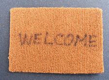 1:12 Scale Fabric Welcome Door Hall Mat Tumdee Dolls House Miniature Carpet