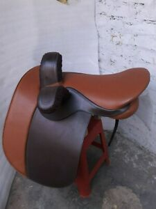 "New 21"" tan/brown leather english side saddle"